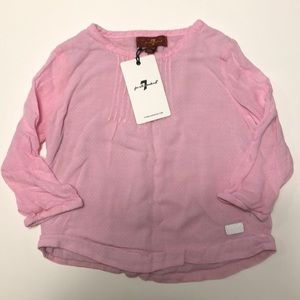7 for all Mankind pink blouse